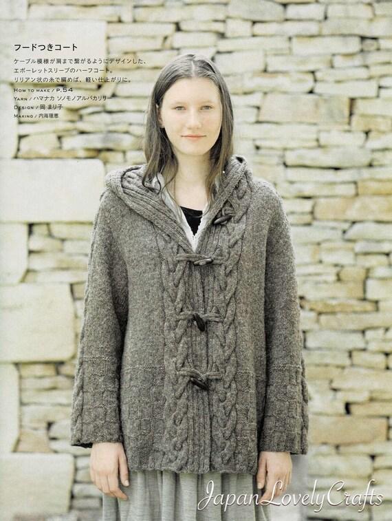 Hand stricken häkeln & Strickmuster warme Strickjacke Jacke | Etsy