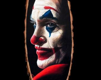 Joker Original Drawing on Wood