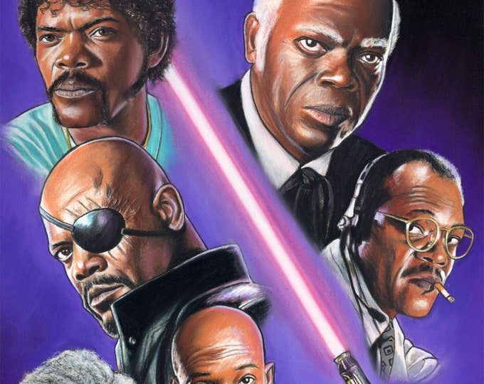 Samuel L Jackson Original Pastel Drawing
