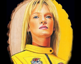 Kill Bill Original Drawing on Wood