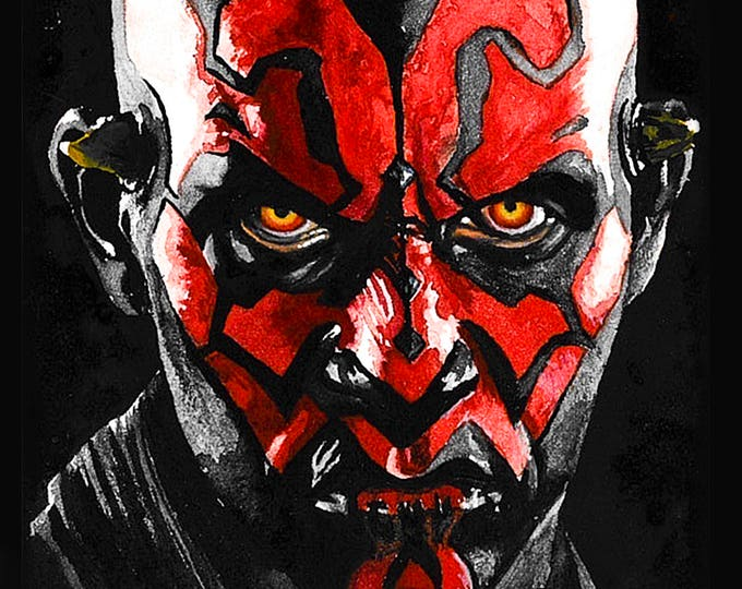 Darth Maul Watercolor Art Print