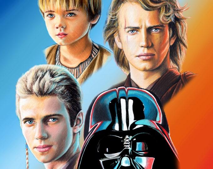Anakin Skywalker/Darth Vader Art Print