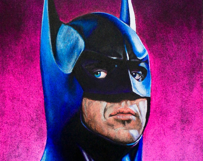 Batman Pastel Drawing Art Print