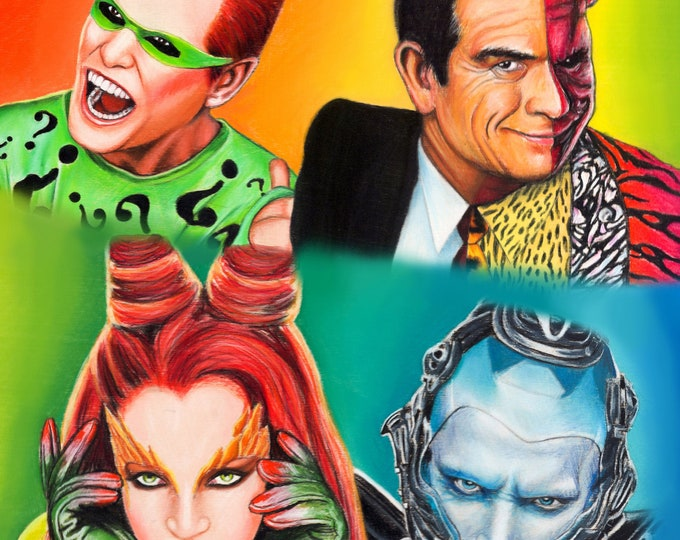 Batman Villains Art Print