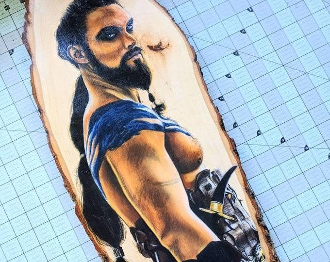 Khal Drogo Original Drawing on Basswood