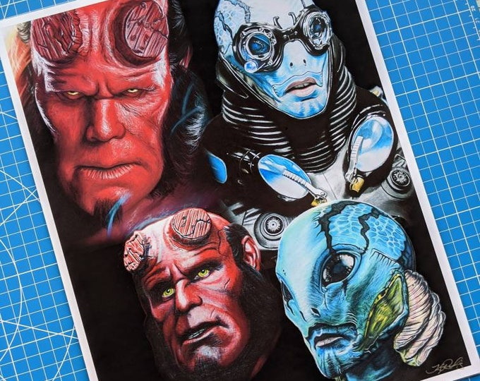 Hellboy and Abe Sapien Art Print