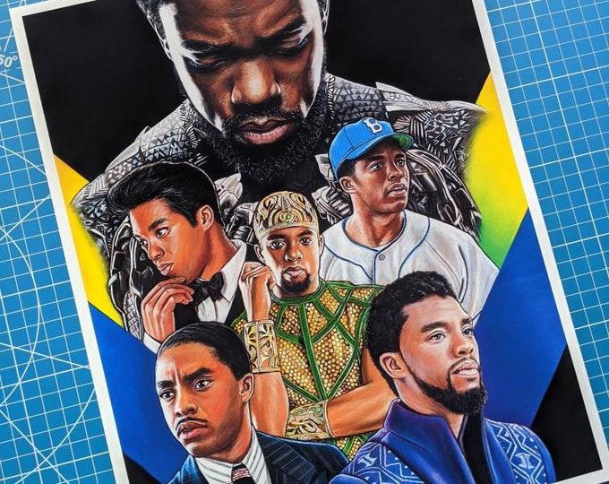 Chadwick Boseman Tribute Art Print