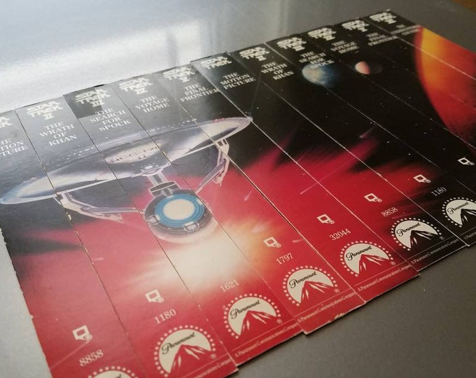 Star Trek VHS Magnet Set