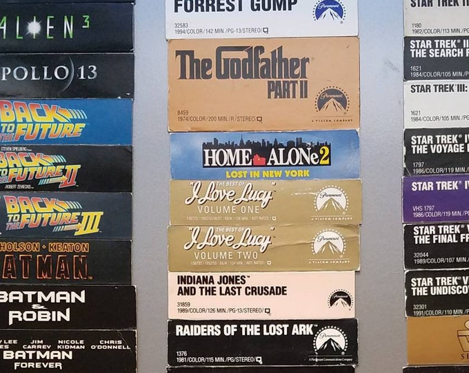 VHS Cover Magnets (Top)