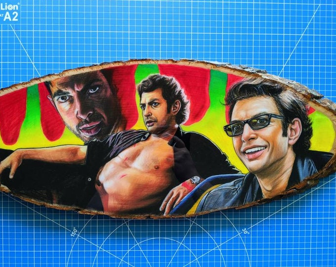 Ian Malcolm Original Drawing on Wood