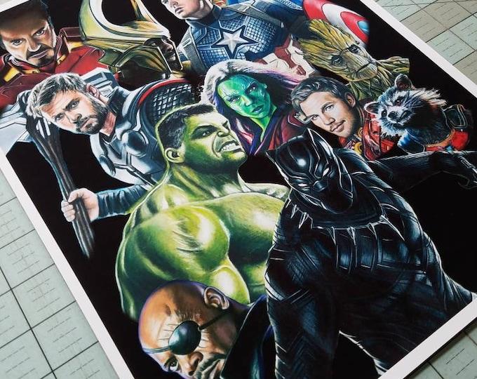 Marvel Characters Art Print