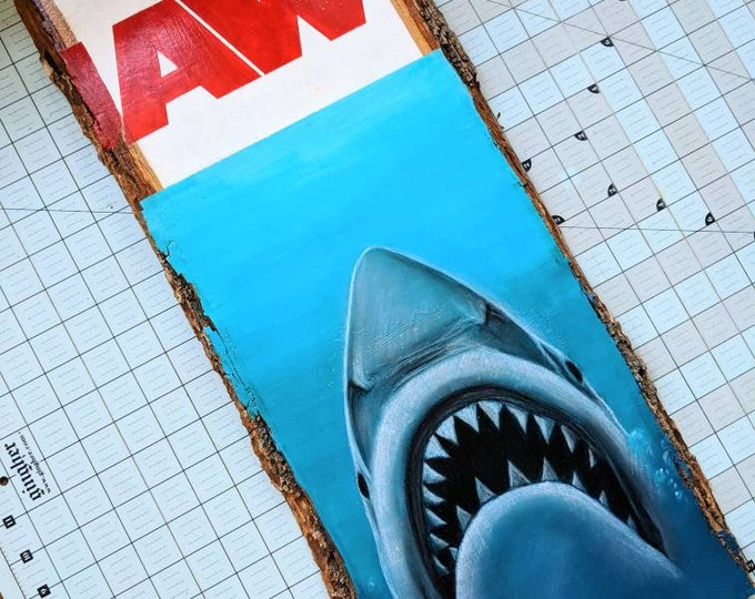 Jaws Original Art on Wood