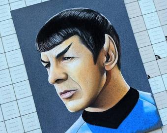 Star Trek Original Pastel Drawings
