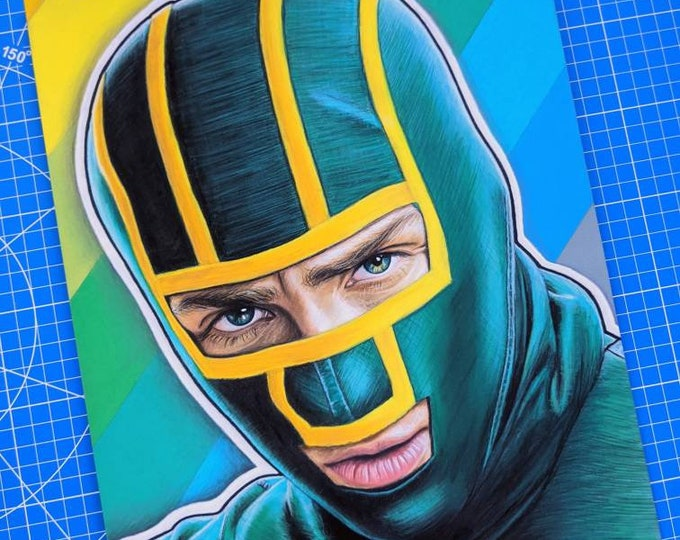 Kick-Ass Original Pastel Drawing