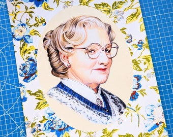 Mrs. Doubtfire Art Print
