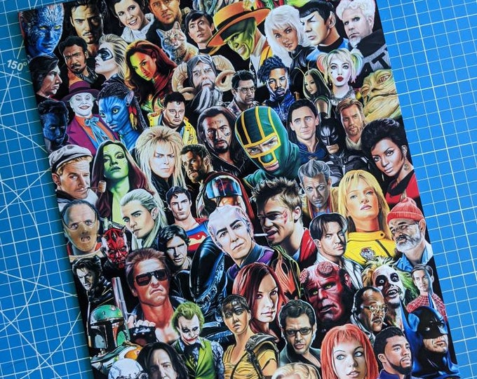 Featured listing image: Movie Characters Art Print