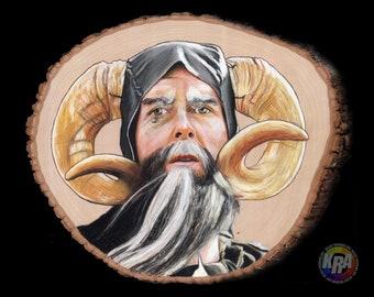 Tim the Enchanter Original Drawing on Wood