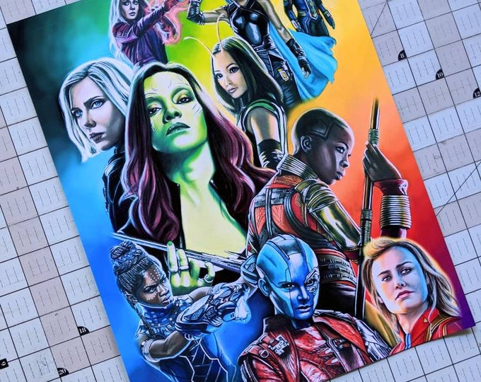 Limited Edition Marvel Ladies Art Print
