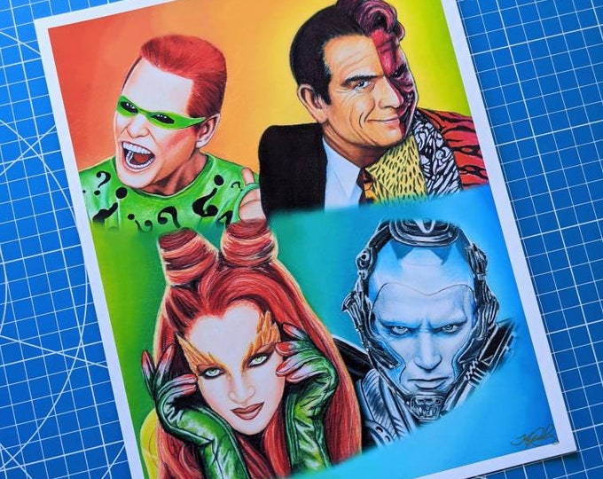 Batman Villains Art Print