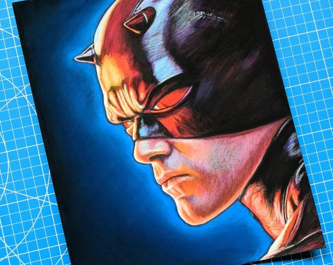 Daredevil Original Pastel Drawing