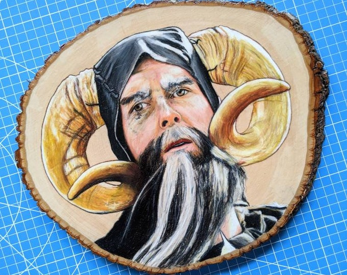 Tim the Enchanter Original Drawing on Wood