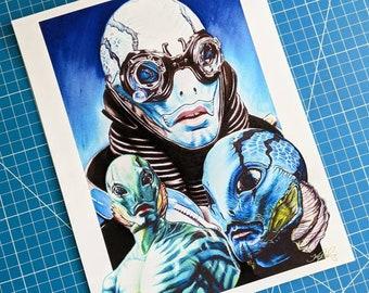 Abe Sapien Art Print
