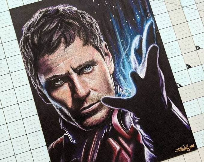 Magneto Original Pastel Drawing