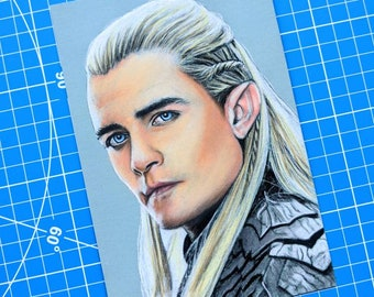 Legolas Pastel Drawing