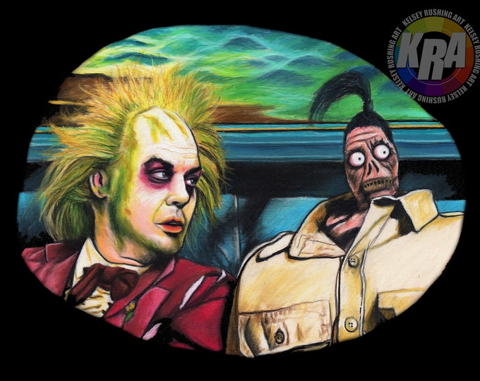 Beetlejuice and Shrunken Head Guy Art Print