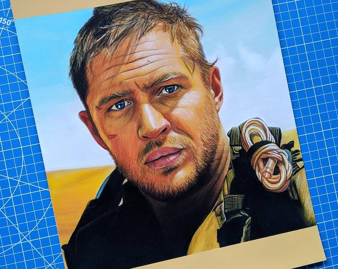 Mad Max Original Pastel Drawing