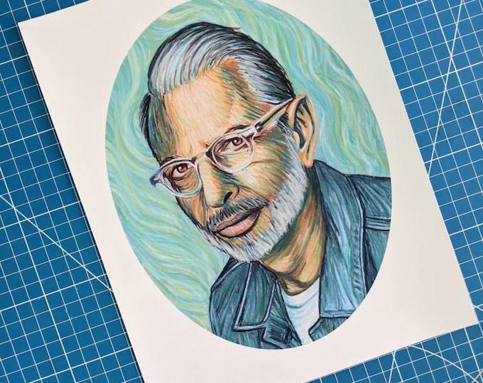 Featured listing image: Jeff Van Goldblum Art Print