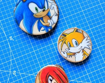 Sonic, Knuckles, and Tails Wood Art