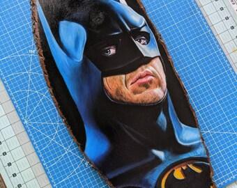 Batman Original Drawing on Wood