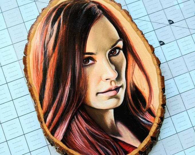 Jean Grey Original Drawing on Wood