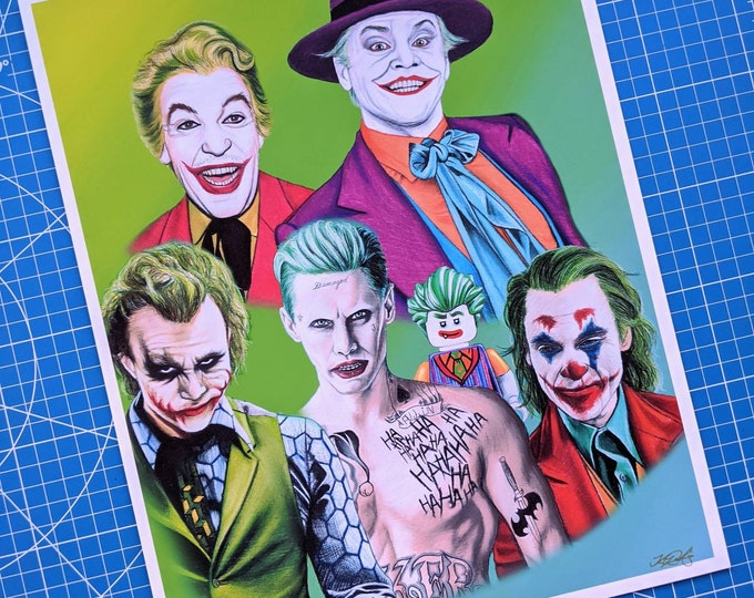 Featured listing image: Jokers Art Print