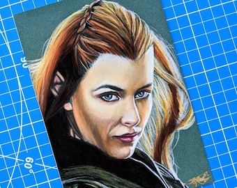 Tauriel Pastel Drawing