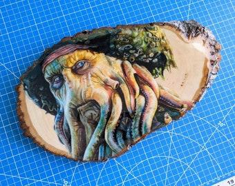 Davy Jones Original Drawing on Wood