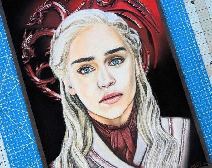 Daenerys Pastel Drawing