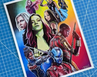 Marvel Women Art Print