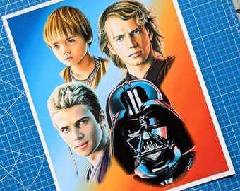 Anakin Skywalker/Darth Vader Art Print