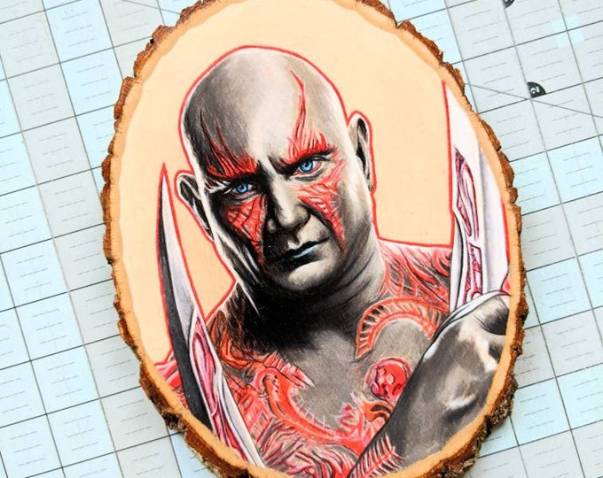 Drax Original Drawing on Wood