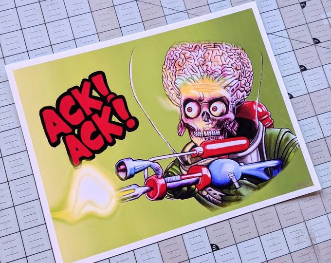 Mars Attacks Art Print