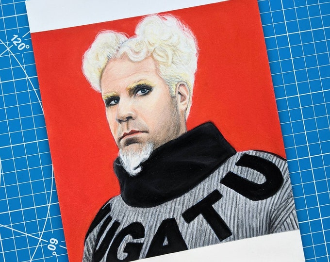 Mugatu Original Pastel Drawing