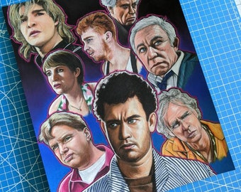 The Burbs Pastel Drawing