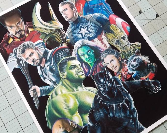 Avengers Art Print