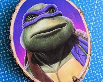 Donatello Original Drawing on Wood