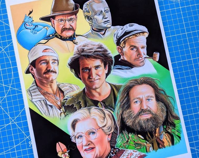 Robin Williams Tribute Art Print