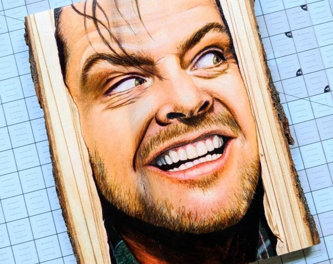The Shining Original Drawing on Basswood