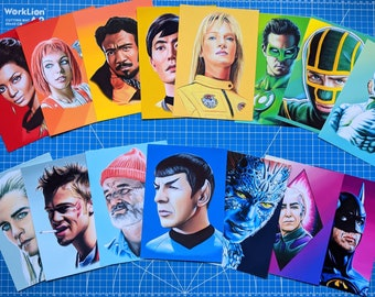 5x7in Art Prints Various Characters