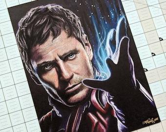 Magneto Original Pastel Drawing